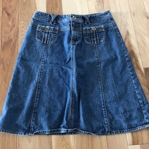 Banana Republic Women's Flare Denim Skirt Size 4